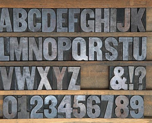 Moveable type - font set