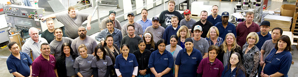 The dedicated staff that make up the Metro Print and Mail family