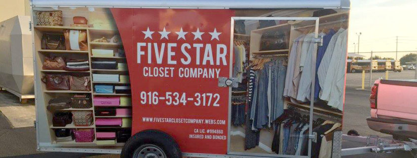 Five Star Closet Company Vehicle Wrap